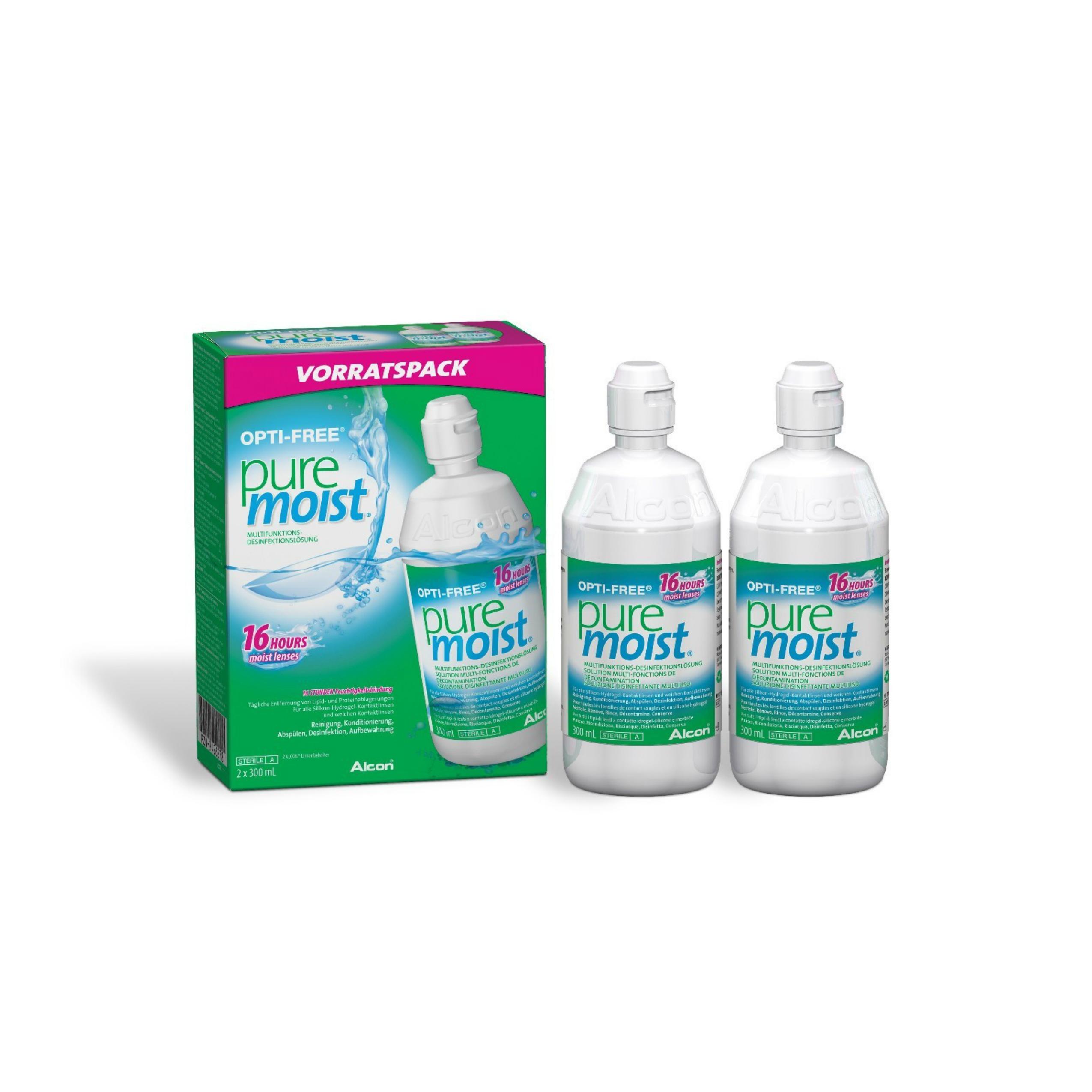 Twin pack Opti-Free Pure Moist 2x300ml