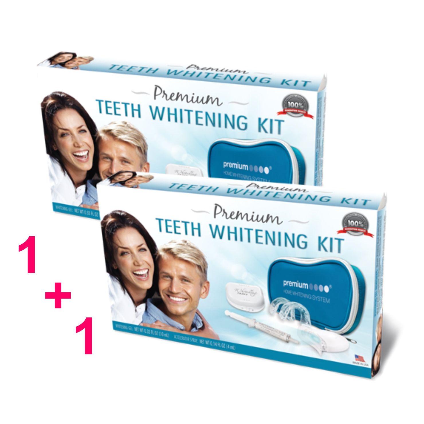 1+1 Páros csomag - Premium Teeth Whitening Kit - otthoni fogfehérítő